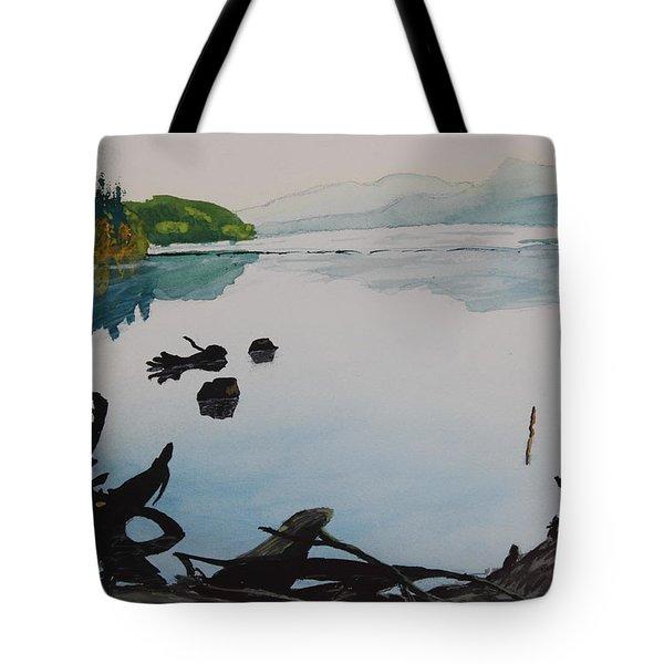 Oakridge Reservoir #1 Tote Bag by Dawna Morton