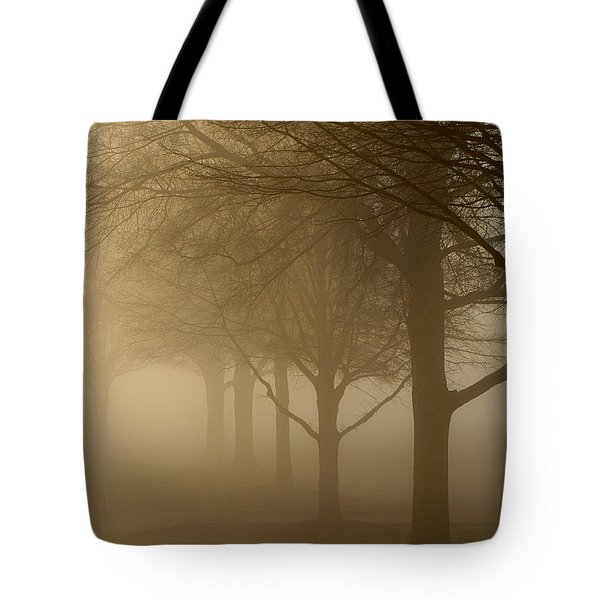 Tote Bag featuring the photograph Oaks In The Fog by Greg Simmons