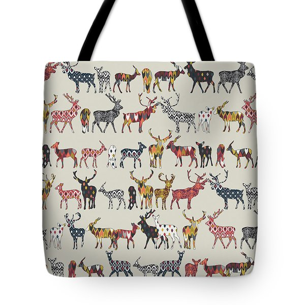 Oatmeal Spice Deer Tote Bag