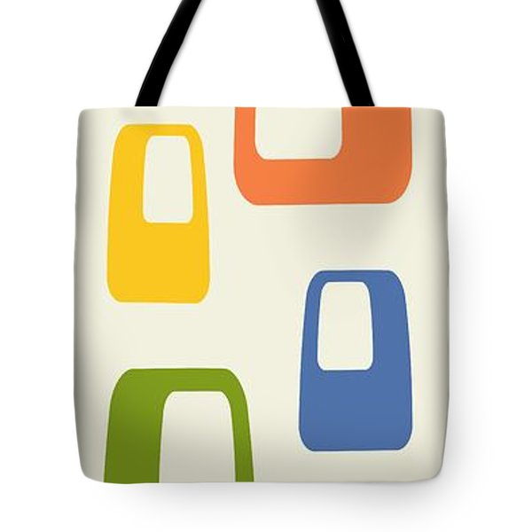 Tote Bag featuring the digital art Oblongs by Donna Mibus