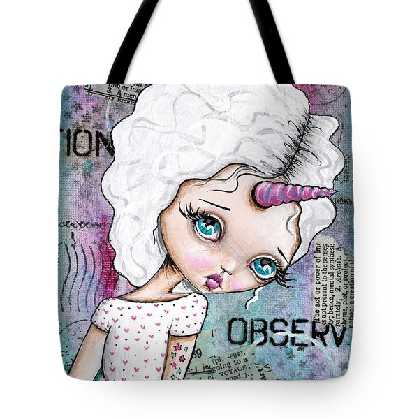 Observation Tote Bag by Lizzy Love of Oddball Art Co
