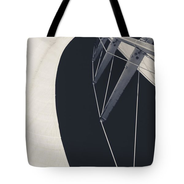 Obsession Sails 9 Black And White Tote Bag