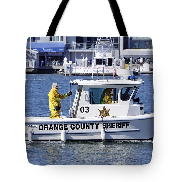 Oc Sheriff Ready For The Fire Tote Bag by Shoal Hollingsworth
