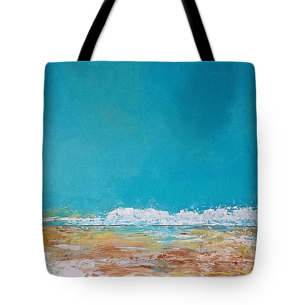 Tote Bag featuring the painting Ocean 2 by Diana Bursztein