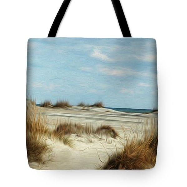 Tote Bag featuring the digital art Ocean Ahead by Kelvin Booker