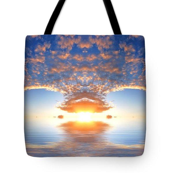 Ocean At Sunset Tote Bag by Michal Bednarek