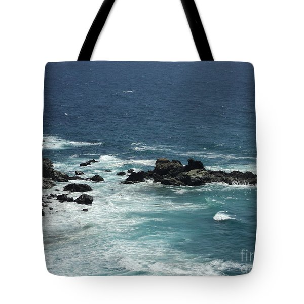 Tote Bag featuring the photograph Ocean Blue by Carla Carson