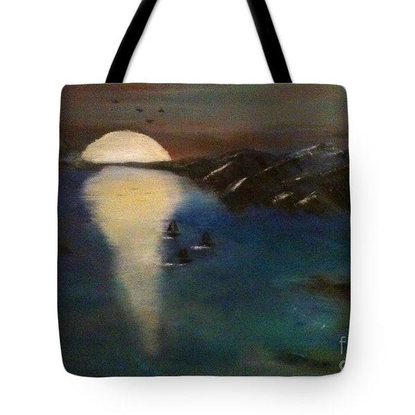 Ocean Blue Tote Bag by Denise Tomasura