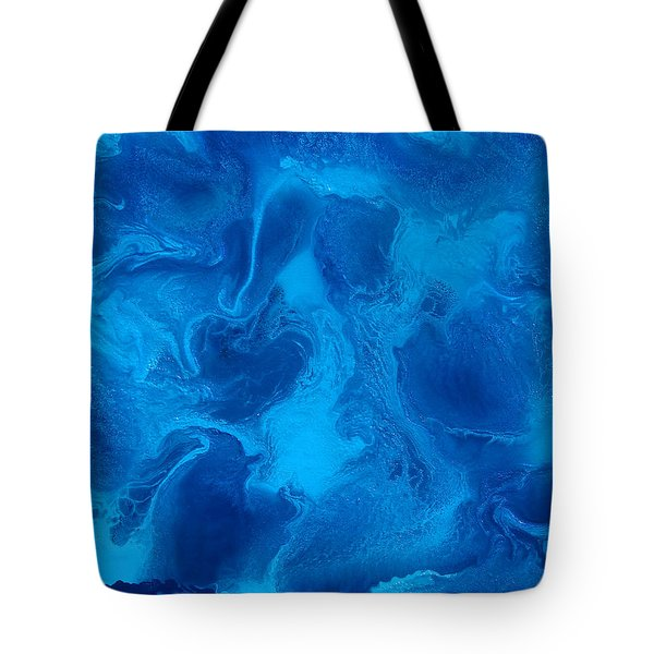 Ocean Blue Abstract Painting Tote Bag