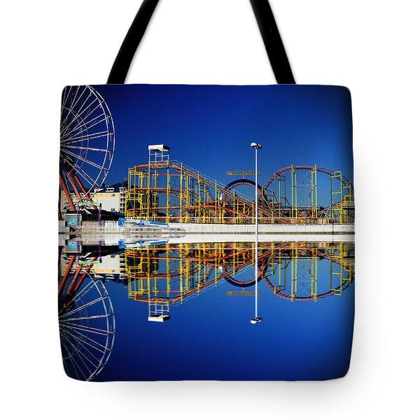 Ocean City Amusement Pier Reflections Tote Bag