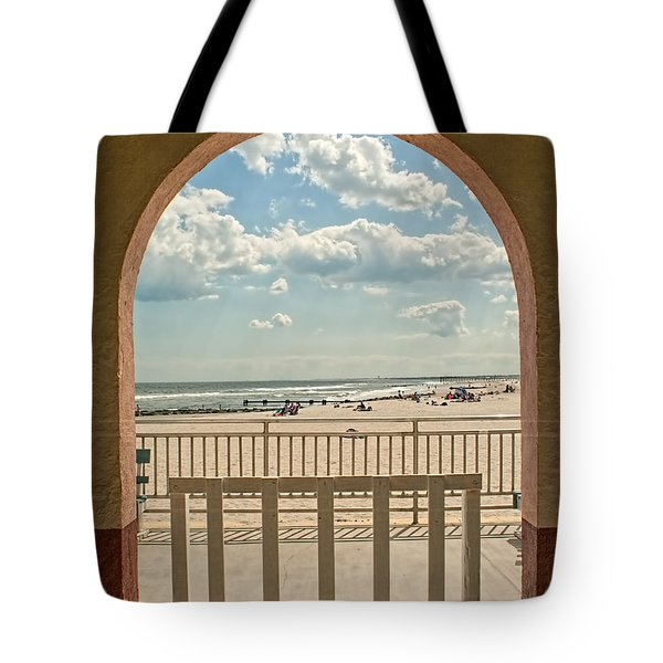 Ocean City Beach View Tote Bag