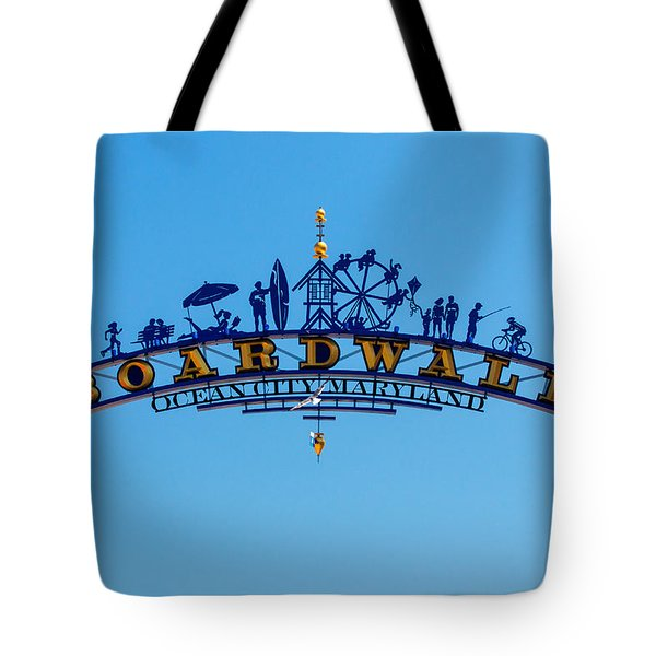 Ocean City Boardwalk Arch Tote Bag