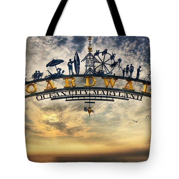 Ocean City Boardwalk Tote Bag by Lori Deiter