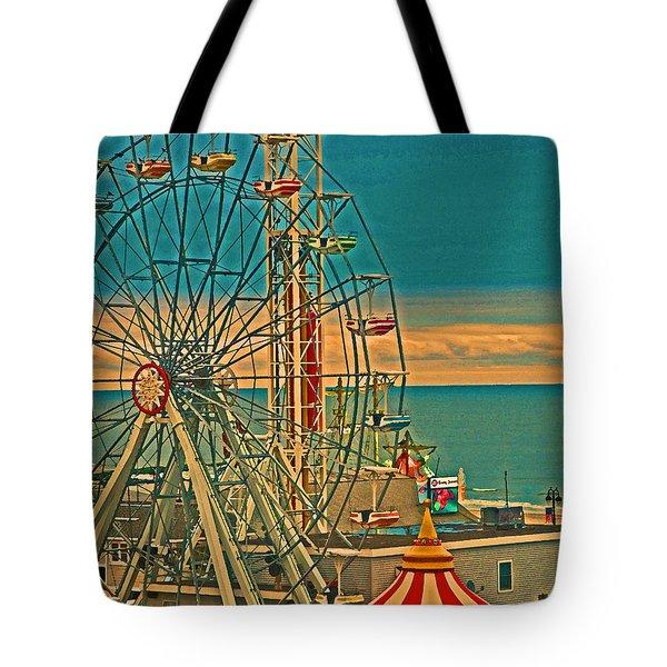 Ocean City Castaway Cove Ferris Wheel Tote Bag