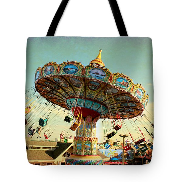 Ocean City Nj Carousel Swing Time Tote Bag