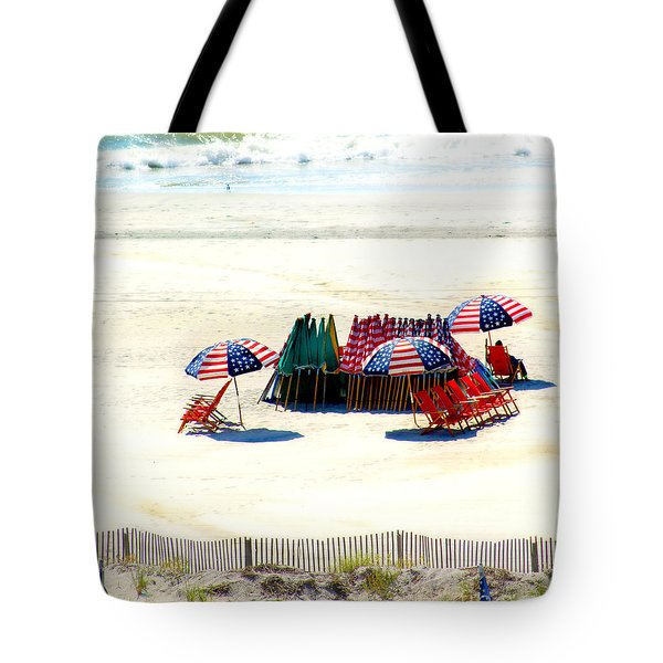 Ocean City Nj Stars And Stripes Tote Bag