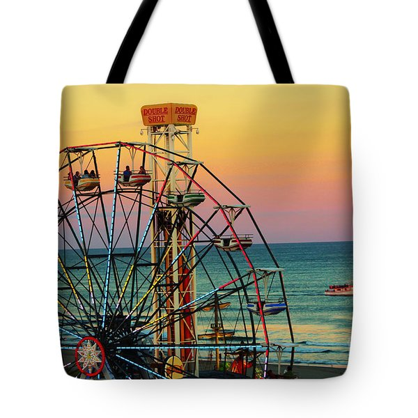 Ocean City Nj Wonder Wheel And Double Shot Tote Bag
