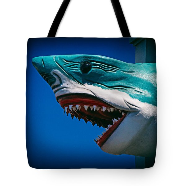 Ocean City Shark Attack Tote Bag