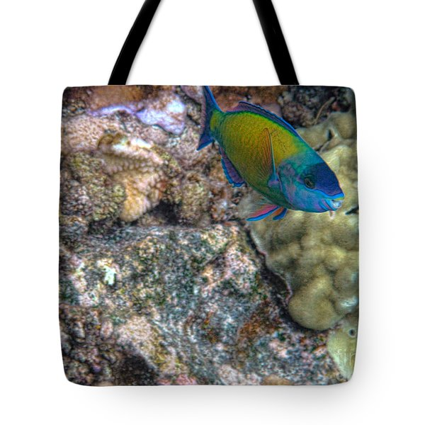 Ocean Color Tote Bag by Peggy Hughes