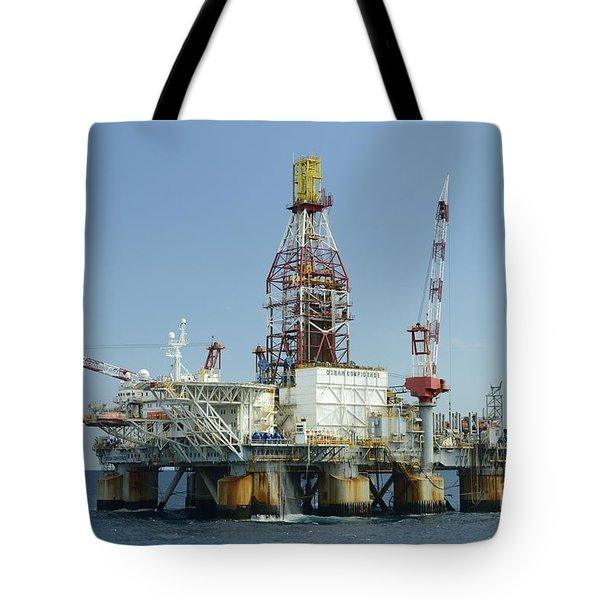 Ocean Confidence Drilling Platform Tote Bag