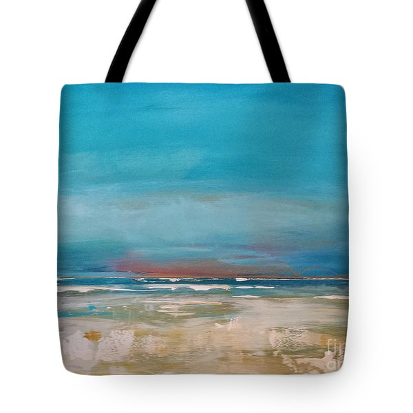 Tote Bag featuring the painting Ocean by Diana Bursztein