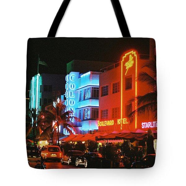 Ocean Drive Film Image Tote Bag