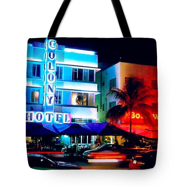 Ocean Drive Polaroid  Tote Bag