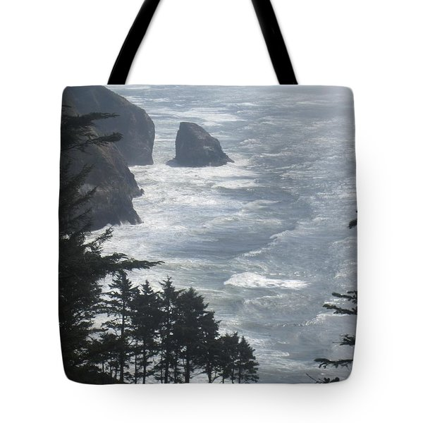 Tote Bag featuring the photograph Ocean Drop by Fiona Kennard