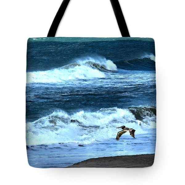 Ocean During A Storm Tote Bag by Sandi OReilly
