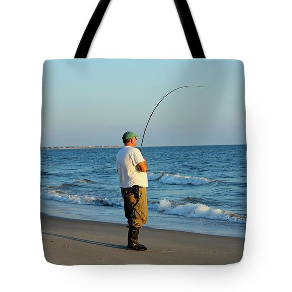 Tote Bag featuring the photograph Ocean Fishing by Cynthia Guinn