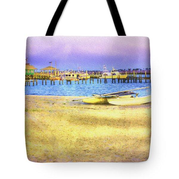 Coastal - Beach - Boats - Ocean Front Property Tote Bag