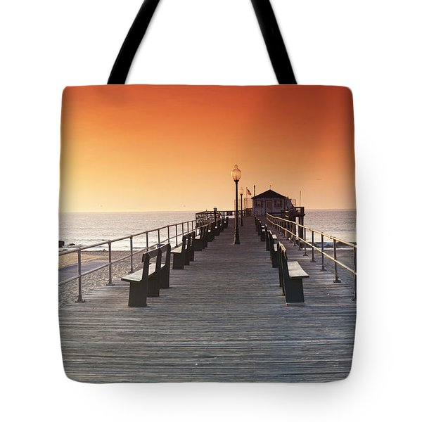 Ocean Grove Jetty In Nj Tote Bag