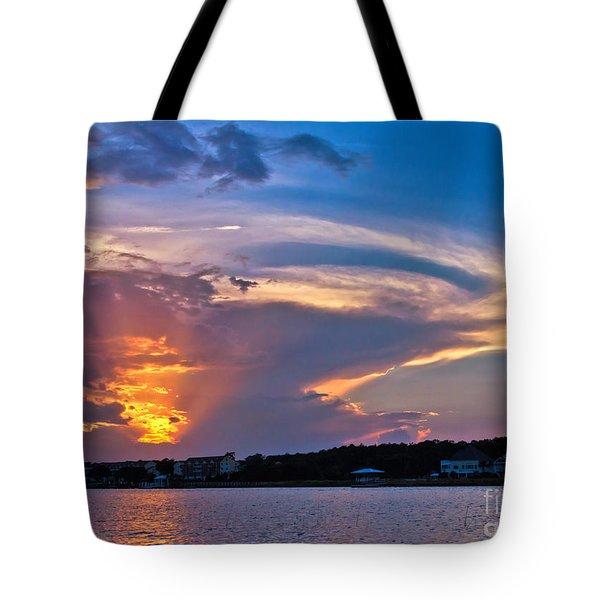 Ocean Isle Sunset Tote Bag