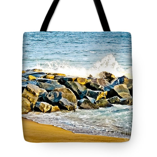 Ocean Jetty Tote Bag by Colleen Kammerer