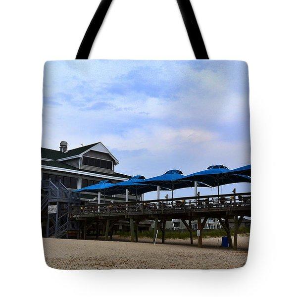 Ocean Pier And Restaurant Tote Bag