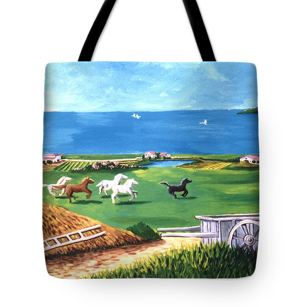 Tote Bag featuring the painting Ocean Ranch by Lance Headlee