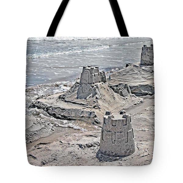 Ocean Sandcastles Tote Bag by Betsy Knapp