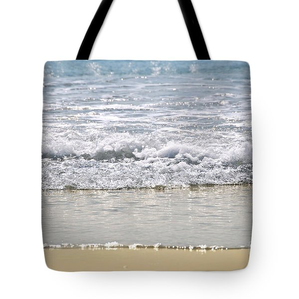 Ocean Shore With Sparkling Waves Tote Bag