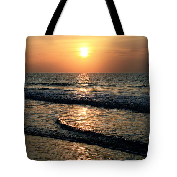 Ocean Sunrise Over Myrtle Beach Tote Bag