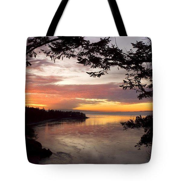 Ocean Sunset Deception Pass Tote Bag