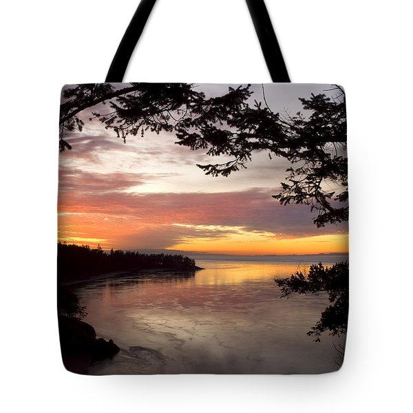 Ocean Sunset Deception Pass Tote Bag