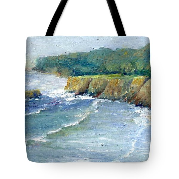 Ocean Surf Colorful Original Seascape Painting Tote Bag