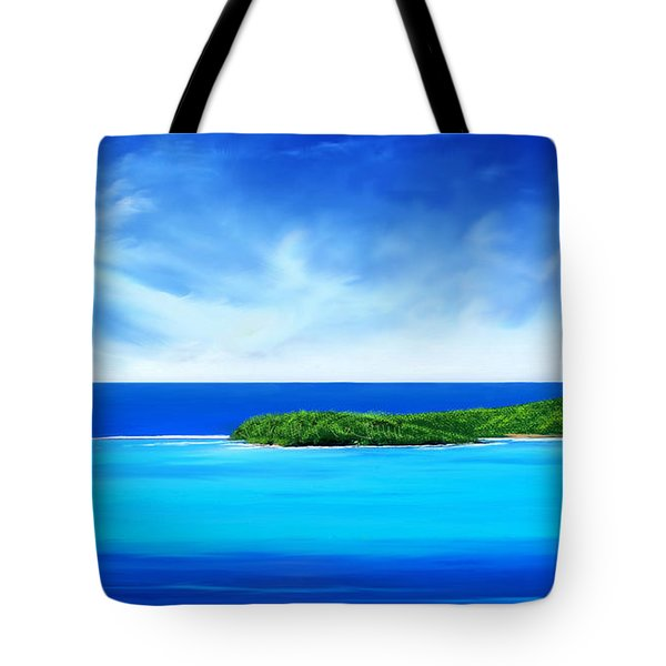 Ocean Tropical Island Tote Bag