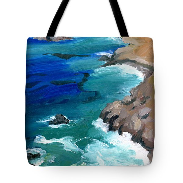 Ocean View At Big Sur Tote Bag by Alice Leggett