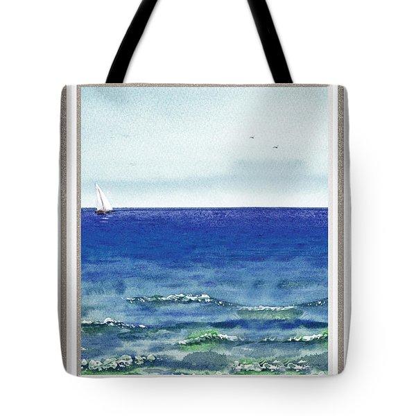 Ocean View Window Tote Bag