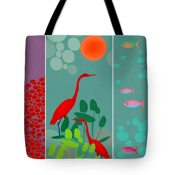Ocean Views - Limited Edition Of 15 Tote Bag by Gabriela Delgado