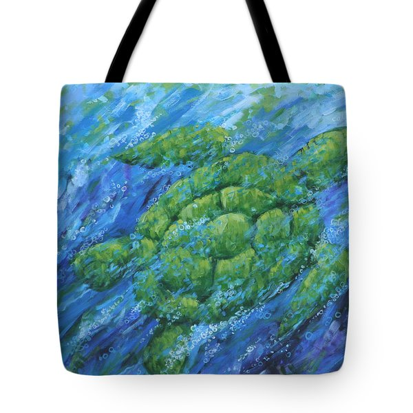 Tote Bag featuring the painting Ocean Voyager by Penny Birch-Williams