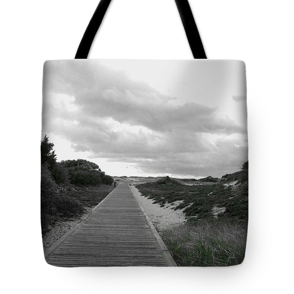 Tote Bag featuring the photograph Ocean Walk Island Beach State Park New Jersey by Pamela Hyde Wilson