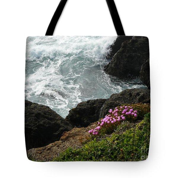 Ocean Wildflowers-2 Tote Bag by Avis  Noelle