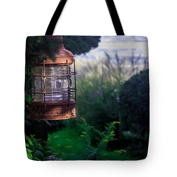 Tote Bag featuring the photograph Oceanside Lantern by Patrice Zinck